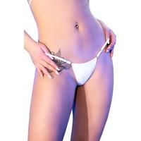 Witte bikini-string