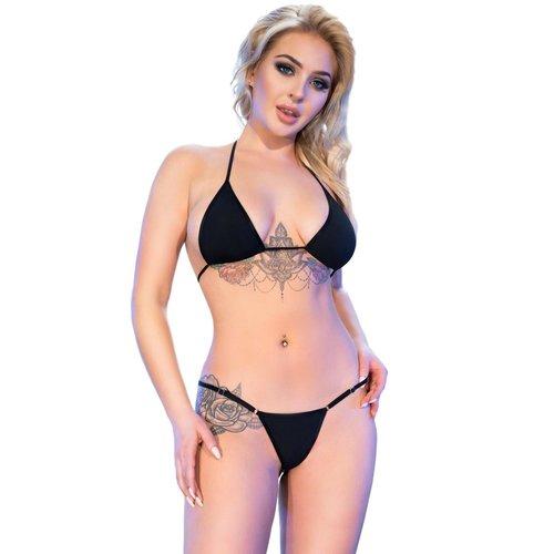 Chilirose Zwarte bikini