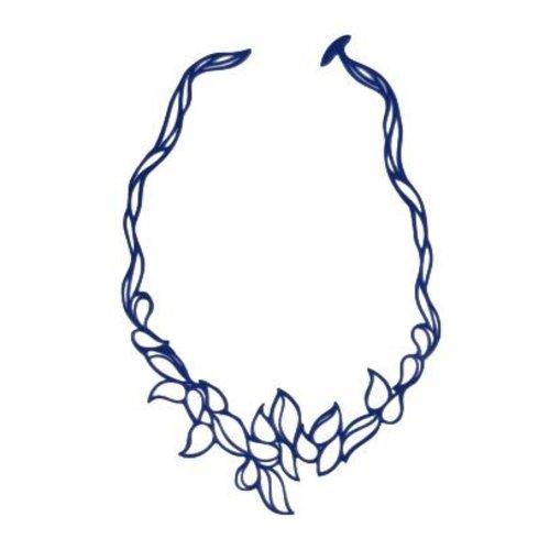 Batucada Drops Halsketting Kobaltblauw