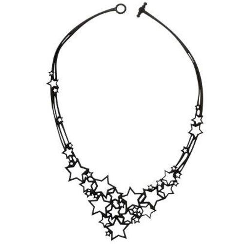 Batucada Stars Halsketting Zwart