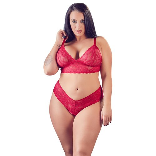 Cottelli Collection Rood kanten lingerie setje
