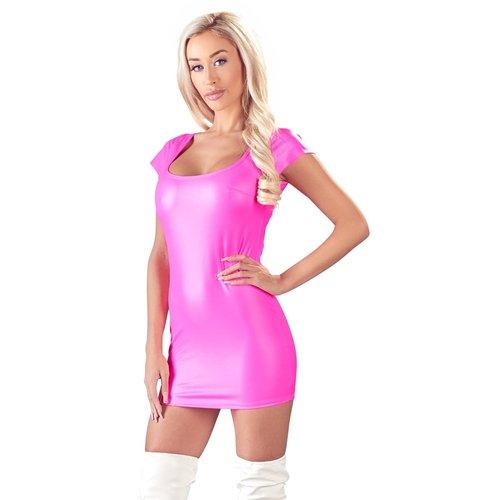 Cottelli Collection Pink wetlook jurkje