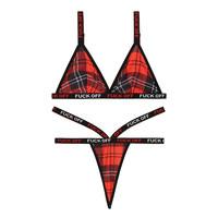 Schotse Ruit lingerie-set