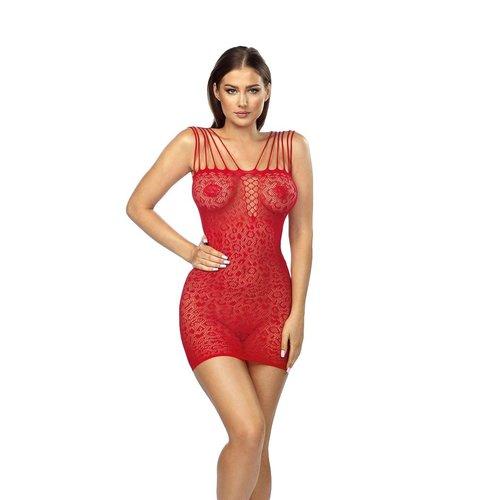 Anais Rubi: rood netstof jurkje