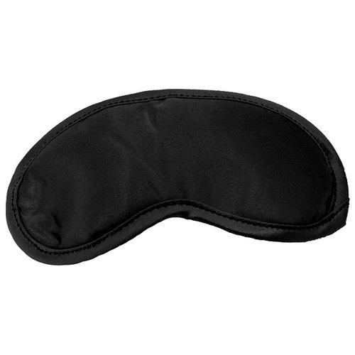 Zwarte Satijnen blinddoek