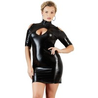 Sexy wetlook jurk