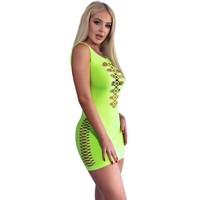 Naadloos neon groen jurkje