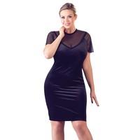 Zwart fluweel mini jurkje OP=OP
