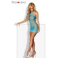 Blauwe mini jurk fishnet