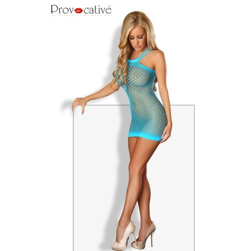 Provocative Blauwe mini jurk fishnet