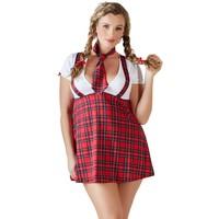 Sexy schoolmeisjes outfit met stropdas