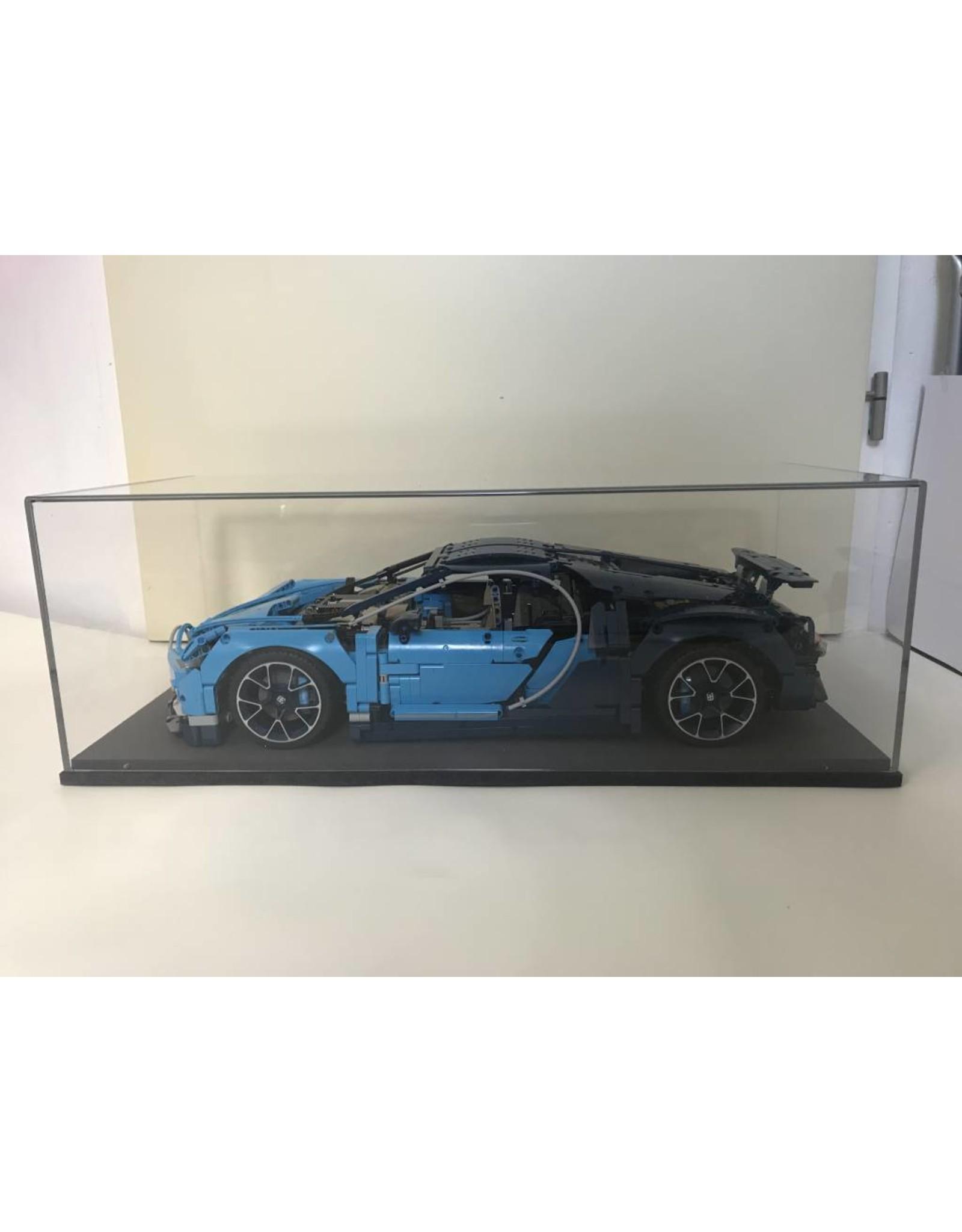 lakea Display case for 1: 8 scale model LEGO® Technic Bugatti Chiron 42083 - Large
