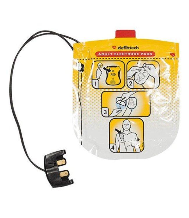 Defibtech Vervang tijdig uw elektroden, deze gaan 2 jaar mee.