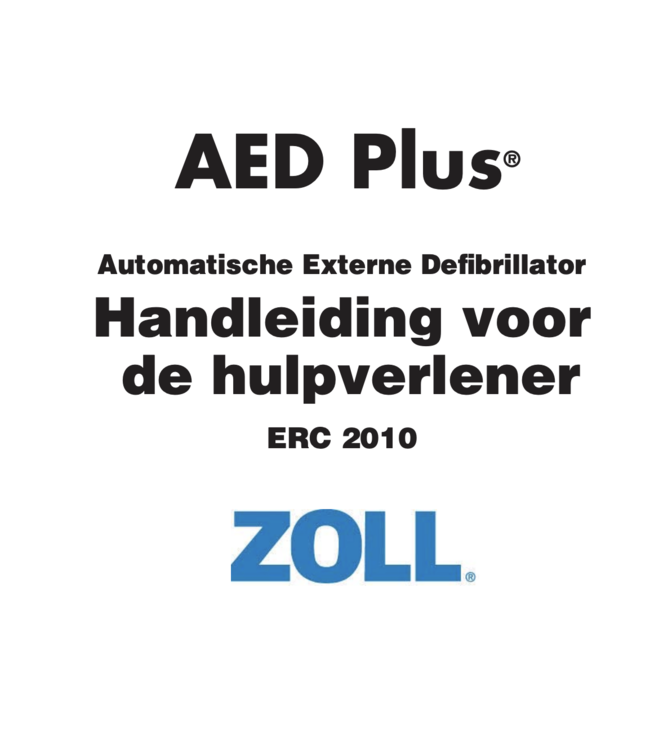 ZOLL Handleiding ZOLL AED Plus