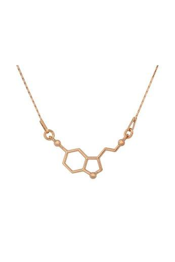 Halskette Serotonin Molekül Anhänger - Sterling Silber rosé vergoldet - ARLIZI 0933 - Kendal