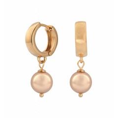 Ohrringe rosé Perle - Silber rosévergoldet - 0815