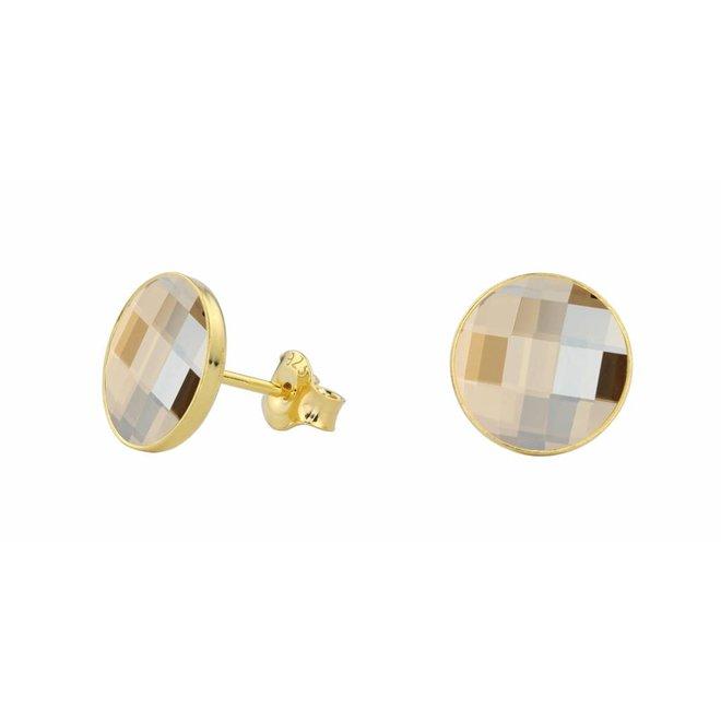Oorbellen Swarovski kristal - zilver verguld - 0988