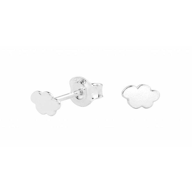 Earrings cloud ear studs - silver- 0995