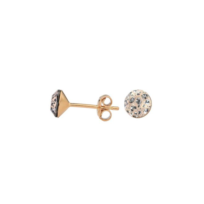 Earrings rose gold crystal - silver rose gold plated - 1029