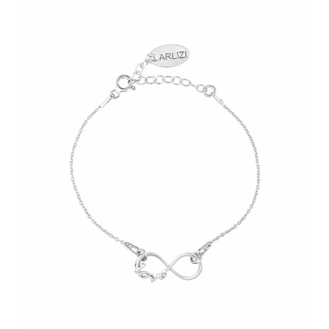 Armband infinity symbool - sterling zilver - ARLIZI 1047 - Kendal