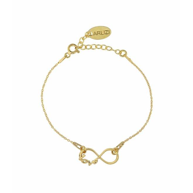 Armband infinity symbool - verguld sterling zilver - ARLIZI 1048 - Kendal