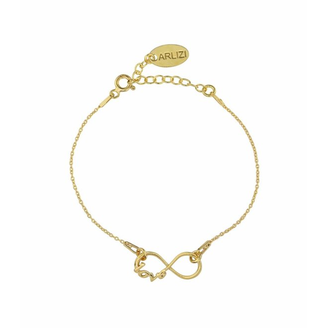 Armband infinity symbool - zilver verguld - 1048