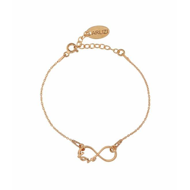 Armband infinity symbool - zilver rosé verguld - 1049
