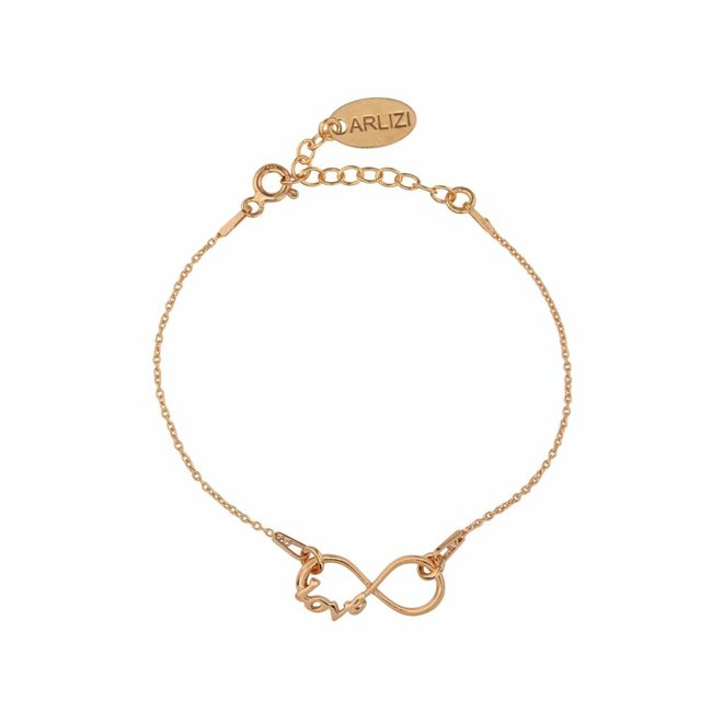 Bracelet infinity symbol - silver rose gold plated - 1049
