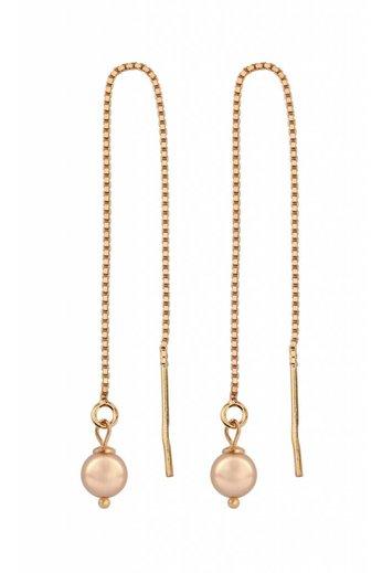 Durchzieher Ohrringe rosé Perle - Sterling Silber rosé vergoldet - ARLIZI 1056 - Emma