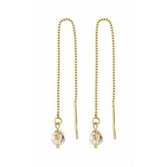 Durchzieher Ohrringe Kristall - Silber vergoldet - 1066
