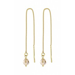 Earrings Swarovski crystal - silver gold plated - 1066