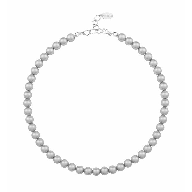 Parelketting licht grijs 8mm - sterling zilver - ARLIZI 1160 - Noa
