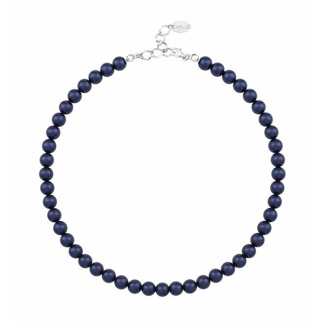 Pearl necklace dark blue 8mm - sterling silver - ARLIZI 1166 - Noa