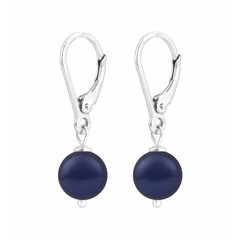 Earrings blue pearl - sterling silver - 1214