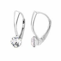 Earrings Swarovski crystal 6mm - silver - 1250