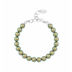 Parel armband groen - sterling zilver - 1132