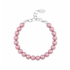 Perlenarmband rosa - Sterling Silber - 1131