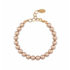 Perlenarmband rosé - Silber rosé vergoldet - 1134