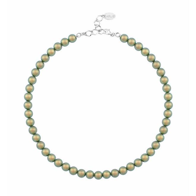 Pearl necklace green 8mm - sterling silver - ARLIZI 1171 - Noa