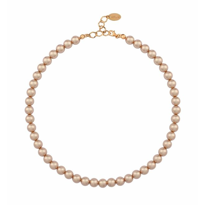 Pearl necklace rose gold 8mm - rose gold plated sterling silver - ARLIZI 1174 - Noa