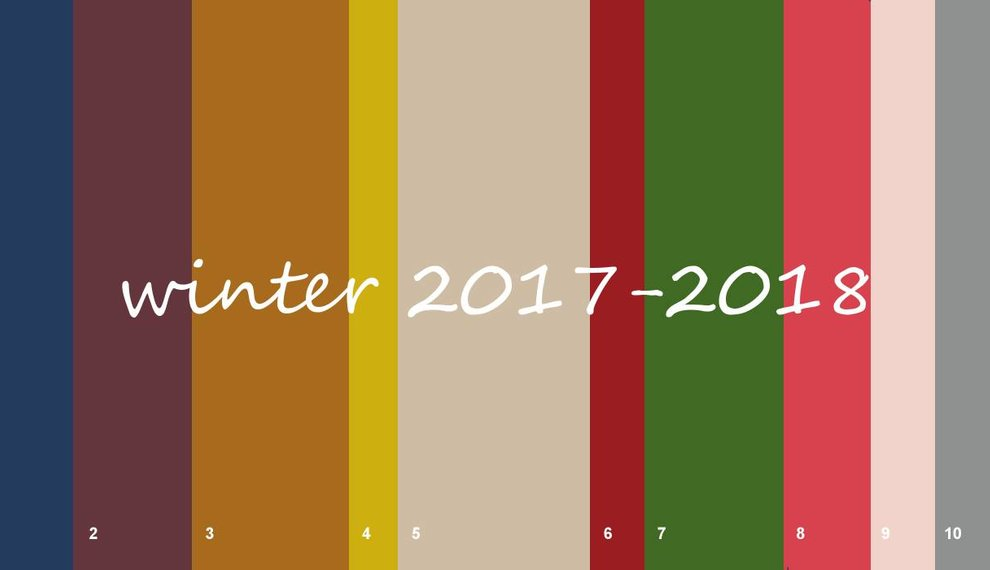 Top 10 Modefarben Winter 2017-2018