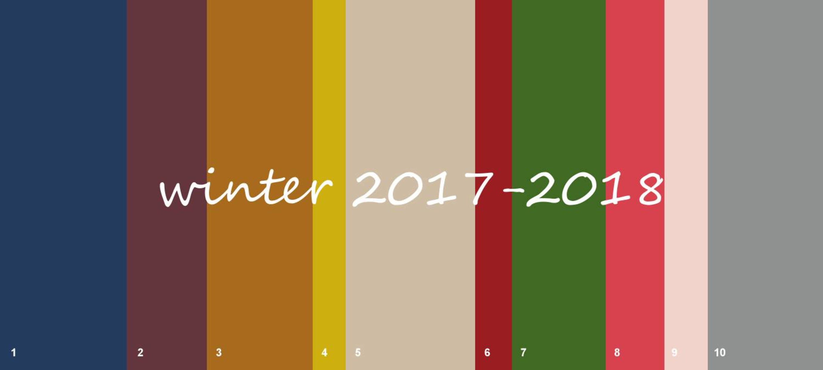 Top 10 fashion colours winter 2017-2018