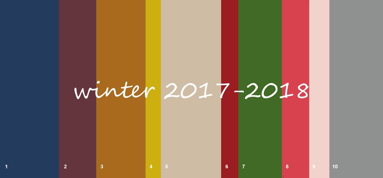 Top 10 fashion colours winter 2017-2018