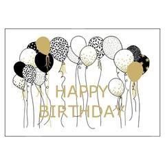 Wunschkarte - Geburtstag - happy birthday