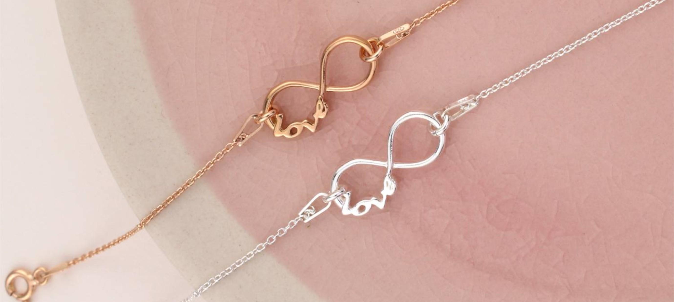 Infinity sieraden - symbool voor eeuwige liefde