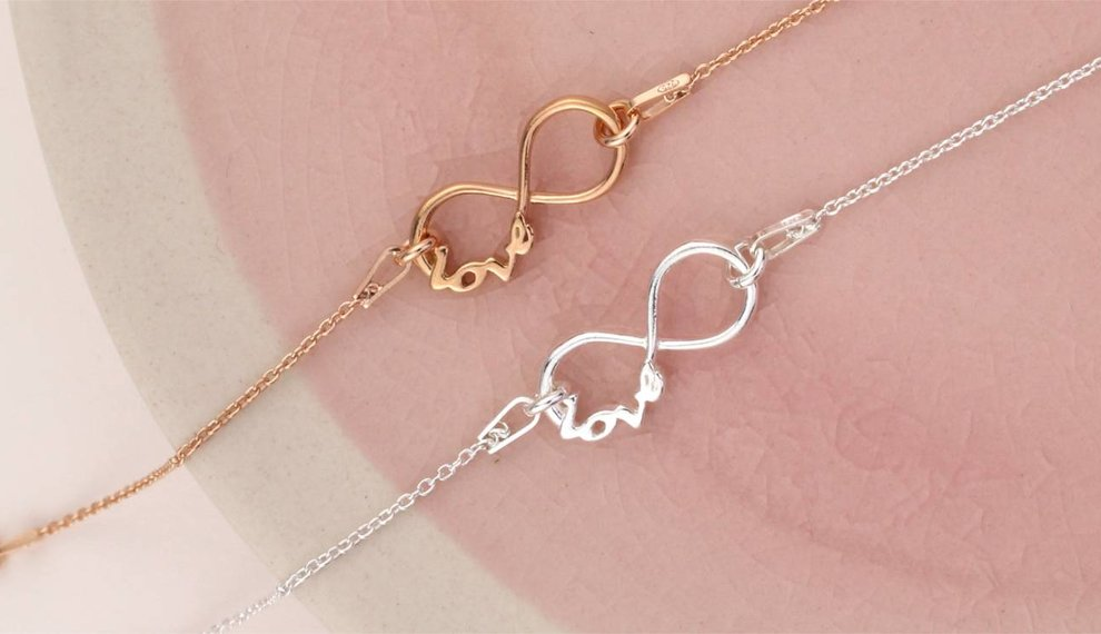 Infinity jewelry - symbol of eternal love