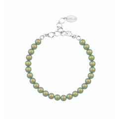 Pearl bracelet green 6mm - sterling silver - 1150