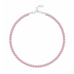 Perlenhalskette rosa 6mm - Sterling Silber - 1196