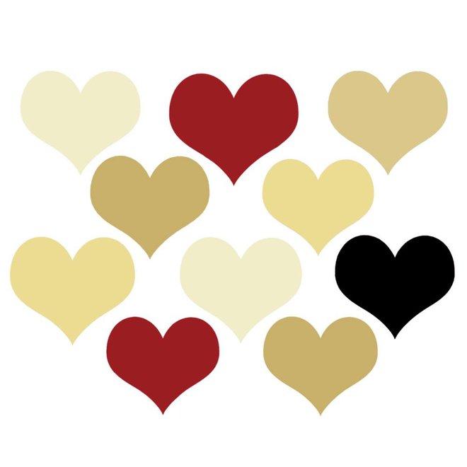 Wenskaart - hartjes - love