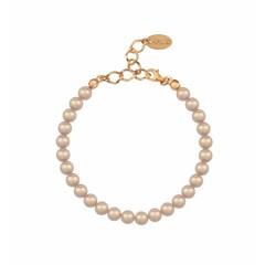 Perlenarmband rosé 6mm - Silber rosé vergoldet - 1152